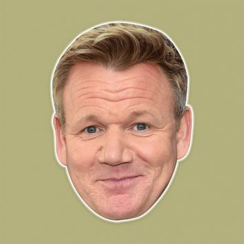 Surprised Gordon Ramsay Mask - Perfect for Halloween, Costume Party Mask, Masquerades, Parties, Festivals, Concerts - Jumbo Size Waterproof Laminated Mask