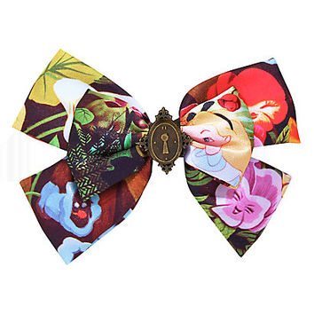 Disney Alice In Wonderland Flowers Hair Bow