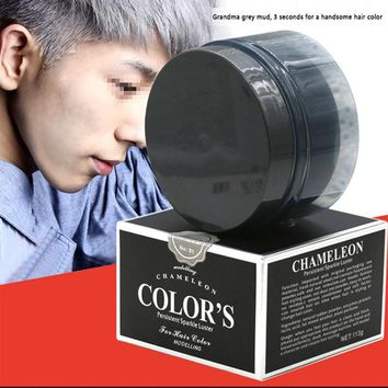 Hair Color hair wax Pomade Silver Ash Grandma Grey Hair Wax Men Temporary Disposable Hair Dye Coloring Mud Cream