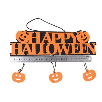 1PC Lovely Cute Useful Colorful Halloween Decoration HAPPY HALLOWEEN Hanging Decoration Pumpkin Hanging Strips Party Supplies