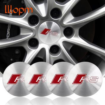 4 pcs 56mm Car Styling Sline S line Center Wheel Hub Cap Badge Cover Stickers For A1 A3 A4L A5 A6L A8 Q5 Q7 TT Car-Styling