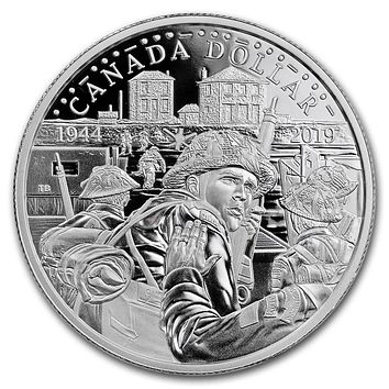2019 Canada Proof Silver Dollar 75th Anniversary of D-Day