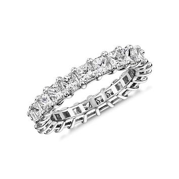 2.8TCW Princess Cut Russian Lab Diamond Wedding Band Full Eternity Ring