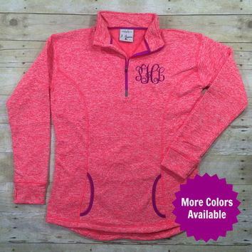 Monogram Quarter Zip - Monogram Sweatshirt - Monogrammed Quarter Zip - Monogrammed Sweatshirt - Monogram Jacket - Runners Thumb Quarter Zip