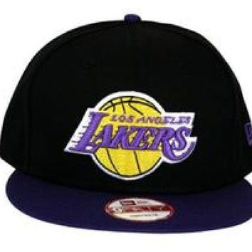 NBA Los Angeles Lakers 2Tone Snapback New Era Licensed Embroidered
