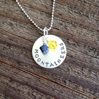 West Virginia Mountaineers Hand Stamped Team Necklace