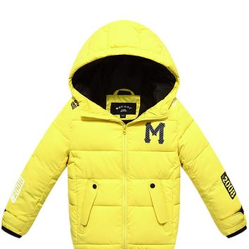 High Quality 2018 New Children Warm Jackets For Boys Girls Winter Autumn Down Cotton Padded Outerwear Kids hooded Jacket 4-14Y