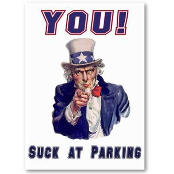 You Suck At Parking Courtesy Card Business Cards from Zazzle.com