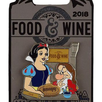 Disney 2018 Food and Wine Festival Snow White Grumpy Limited Pin New with Card