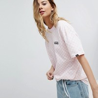 Vans Exclusive To Asos Oversized Checkerboard T-Shirt Pink at asos.com