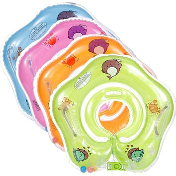 Inflatable circle pool toy infant Swimming accessories swim neck baby tube ring safety neck float circle bathing swim