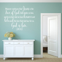 Religious Wall Decal. Whoever Confesses - CODE 149