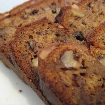 Banana Bread w/Walnuts, Moist, Delicious gourmet Banana Bread w/Walnuts. Homemade bread Dessert bread holiday gift holiday treat gift idea