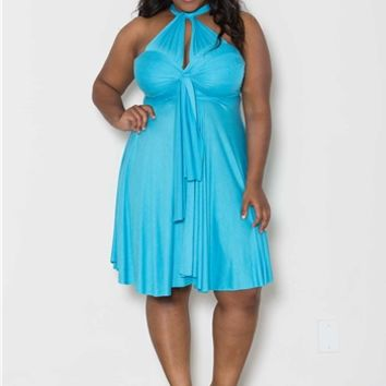 Plus Size Dresses | Eternity Convertible Dress in Black | Swakdesigns.com