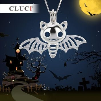 CLUCI Newest fashion jewelry accessories Halloween Charms bat wings shape cage pendants necklace for both adults and kids 3pcs