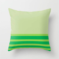 "Lime Sublime Throw Pillow Indoor & Outdoor Cover (16"" X 16"", 18"" X 18"", 20"" X 20""),Mint,Green,Nautical,Pattern,Colorful,Preppy,Emerald"