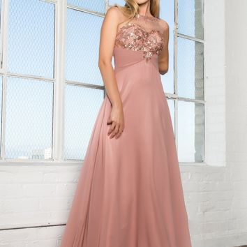 Flowy affordable prom dress  gls 2085