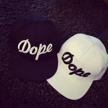 DCCKUNT Hip-hop Printing Embroidery Letters Baseball Cap Flat Brimmed Hat