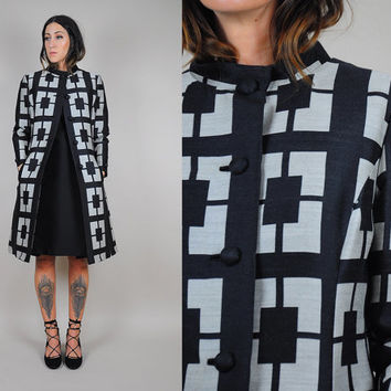 60's Minimalist 2 Piece DRESS + JACKET