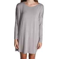 Chelsea Grey Piko Tunic Long Sleeve Dress