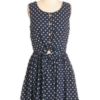 ModCloth Sleeveless A-line Dependably Delightful Dress