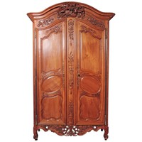18th Century Carved Walnut Wedding Armoire from Provence