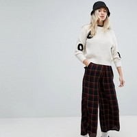 Obey Wide Leg High Waist Pants In Check at asos.com