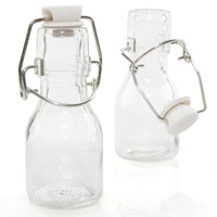 Empty Fillable Glass Mini Milk Jar - Birthday Party Do It Yourself - 12 ct