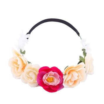 Pink & Peach Floral Crown