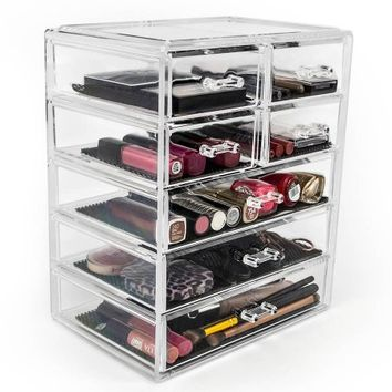 Acrylic Drawer Makeup Organizer with Removable Drawers - Walmart.com