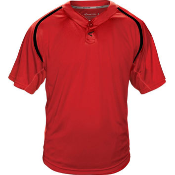 Easton M7 Homeplate Two-Button Baseball Jersey - Red Black