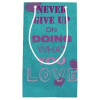 Do what you love motivational text typography small gift bag