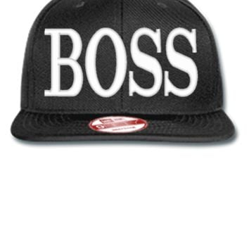 BOSS embroidery  - New Era Flat Bill Snapback Cap