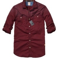 Easy Check Shirt With Chest Pockets - Scotch & Soda