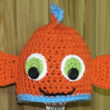 Orange Fish Hat / Bubbles McFinn / 4 size choices