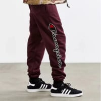 """Champion"" Fashion Print Sport Stretch Pants Trousers Sweatpants"