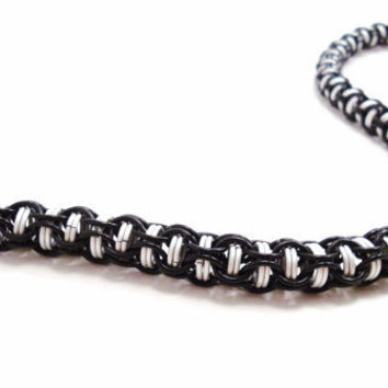 Black & White Chainmail Necklace Captive by SerenityInChains