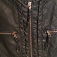 Ae Vegan Quilted Leather Moto Jacket  (American Eagle)