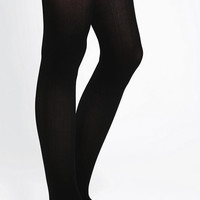 Urban Outfitters - Opaque Lace-Cuff Thigh-High Tight
