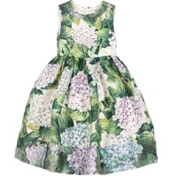 Girls 'Ortensia' Silk Dress
