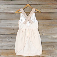 Sparkling Shadows Dress in Cream