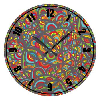 Pop Art Fantasy Large Clock
