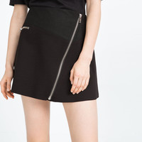 MINI SKIRT WITH ZIPS - Mini-SKIRTS-WOMAN | ZARA United Kingdom