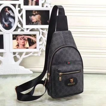 Gucci Women Leather Backpack Satchel Crossbody