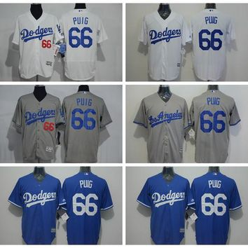 Los Angeles Dodgers MLB Jerseys Baseball 66 Yasiel Puig Jersey Men Flexbase Cool Base