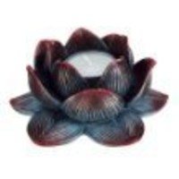 Lotus Votive / Candle Holder - Meditation Flower Candleholder Buddha (1, 4 IN)