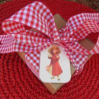 Victorian Christmas Girl Gift Tags. Set of 10.