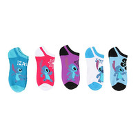 Disney Lilo & Stitch No-Show Socks 5 Pair