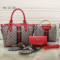 GUCCI 2018 counter models women's four-piece fashion F-KSPJ-BBDL red