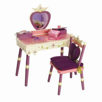 "Levels of Discovery Princess 15.5"" Vanity Table & Chair Set"